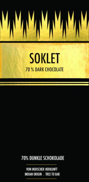 Vegan chocoladereep Dark 70% - Soklet