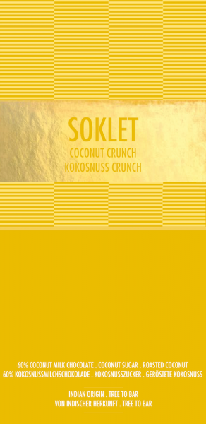 Vegan chocoladereep Coconut Crunch - Soklet