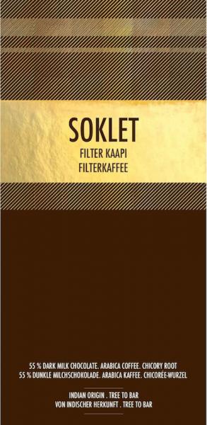 Soklet Chocoladereep Filter Kaapi 55%