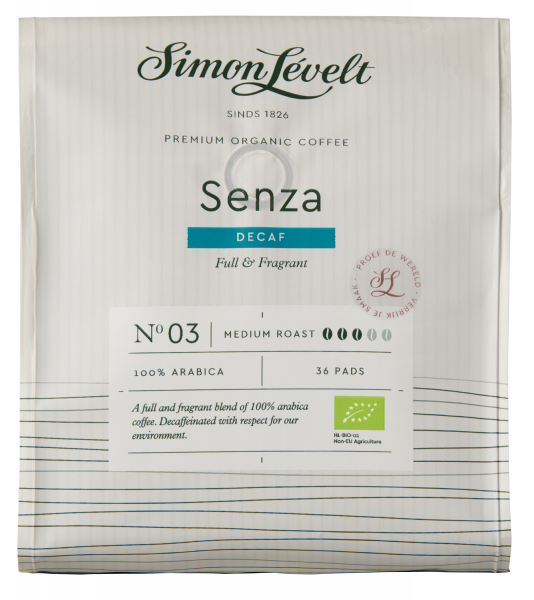 Senza cafeïnevrije Premium Organic Coffee - 36 Koffiepads