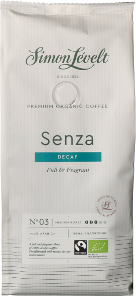 Senza cafeïnevrij Premium Organic Coffee - snelfiltermaling 250g